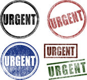 Urgent Rubber Stamps (Vector) Royalty Free Stock Images