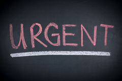 Urgent Sign Word Concept Stock Image