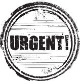 Urgent stamp. Abstract grunge rubber stamp with the text urgent Stock Image
