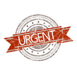 Urgent stamp. Urgent grunge rubber stamp on white Stock Photo
