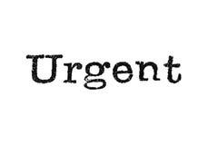 Urgent Typewriter Type Stock Photos