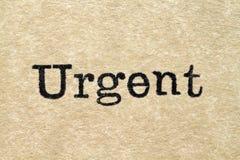 Urgent Typewriter Type Royalty Free Stock Photos