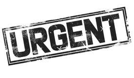 Urgent word with black frame vector illustration