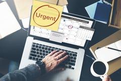 Urgente dê a prioridade ao conceito da importância da urgência do foco Imagens de Stock Royalty Free