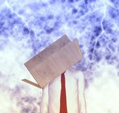 Urgente pensi dall'illustrazione di concetto di idee della scatola Fotografie Stock Libere da Diritti