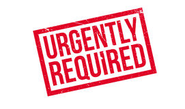 Urgently Required rubber stamp Royalty Free Stock Photography