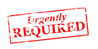 Urgently required Royalty Free Stock Images