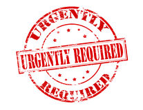 Urgently required Royalty Free Stock Photo