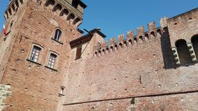 Urgnano, Bergamo, Italy. The medieval castle in the center of the village stock video footage