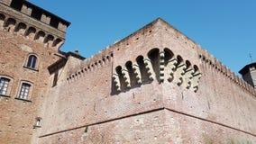 Urgnano, Bergamo, Italy. The medieval castle in the center of the village stock video