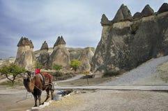 Volcanic formations - Urgup, Cappadocia - Landmark attraction in Turkey Stock Image