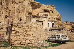 Urgup village landscape with old cave houses, Cappadocia Stock Photography