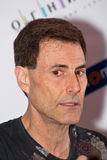 Uri Geller answers questions of journalists Stock Images