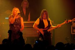 URIAH HEEP concert at the Progresja Warsaw Poland Club on November 5, 2008. On November 5, 2008, the British band URIAH HEEP performed in the capital of Poland Royalty Free Stock Photography