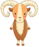 Urial cartoon character Stock Image