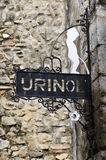 Urinal in the Alfama district, Lisbon. Portugal Stock Photo
