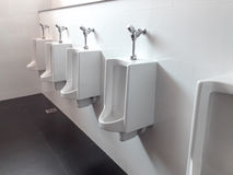 The urinal in the bathroom Royalty Free Stock Image