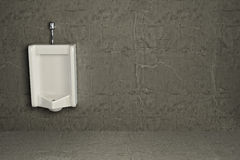 Urinal on dirty wall. Abstract background. 3d Stock Image