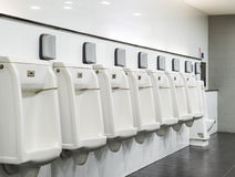 Urinal row Royalty Free Stock Photos