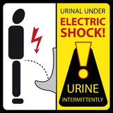 Urinal under electric shock - urine intermittently Royalty Free Stock Images