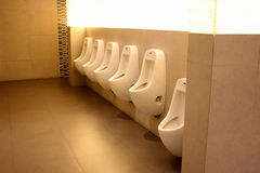 Urinals of bathroom. Royalty Free Stock Images
