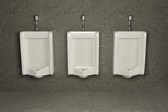 Urinals on dirty wall. Abstract background. 3d Royalty Free Stock Images