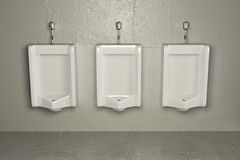 Urinals on dirty wall. Abstract background Stock Images