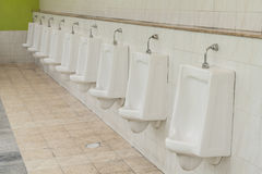 Urinals for men Stock Photography