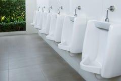 Urinals men in public toilet. Urinals men in the public toilet Stock Photos