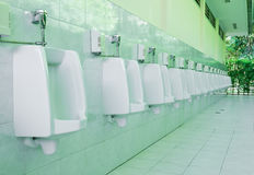 Urinals for men Royalty Free Stock Photography