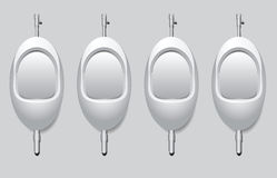 Urinal for urinate standing up. Urinals in the mens restroom to urinate standing up. Vector illustration Royalty Free Stock Images