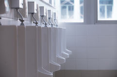 Urinals in a Public Stock Photo