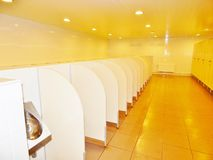 Urinals in a public toilet Stock Photos