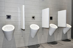 Urinals in row Royalty Free Stock Photography