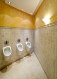 Urinals in toilet Royalty Free Stock Photography