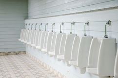 Urinals in toilet. Stock Image
