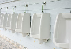 Urinals in toilet. Stock Photography