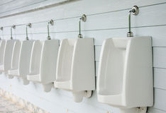 Urinals in toilet. Royalty Free Stock Images