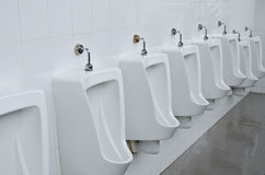 Urinals in toilets Stock Photos