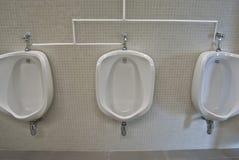 Urinary. Image of three urinary white Stock Image