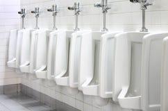 Urinaux dans la toilette publique Images libres de droits