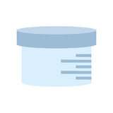 Urine sample container icon. Illustration eps 10 Royalty Free Stock Image