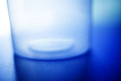Urine sample plastic jar Stock Photography
