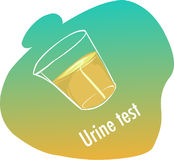 Urine test. A vector illustration of urine test Stock Photos