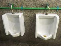 Urinoirs dans la toilette Image libre de droits