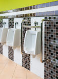 Urinoirs de porcelaine pour l'estropié et les personnes âgées Image libre de droits