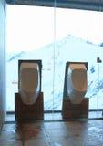 Urinoirs en céramique Images libres de droits
