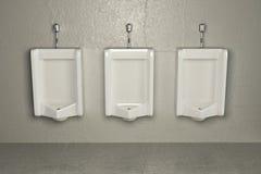 Urinoirs op vuile muur. Abstracte achtergrond Stock Afbeeldingen
