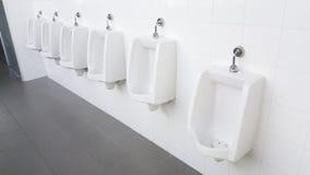 Urinoirs in openbaar toilet Royalty-vrije Stock Fotografie