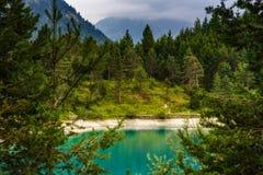 Urisee dichtbij Reutte, Tirol, Oostenrijk royalty-vrije stock afbeelding